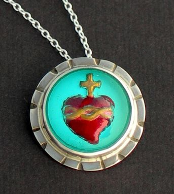 Custom Made Sacred Heart Pendant Necklace