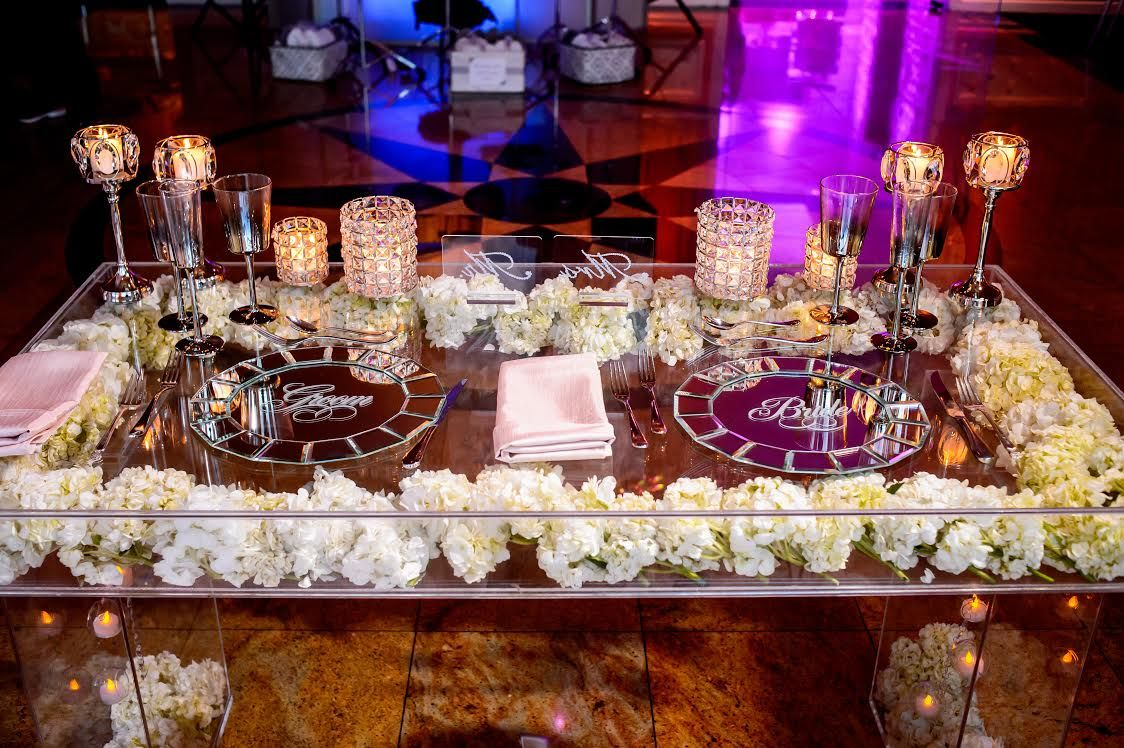 Buy A Hand Made Acrylic Bridal Sweetheart Table Clear
