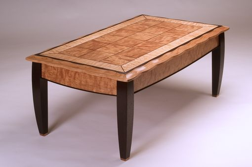 Custom Made Figured Cherry Coffee Table