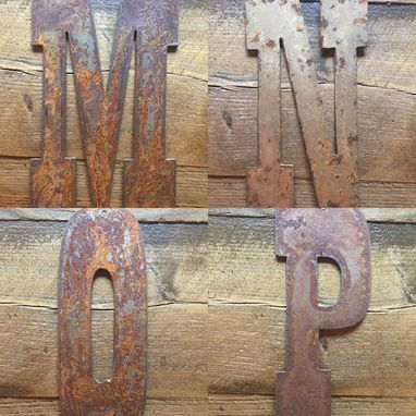 Custom Made Rustic Metal Letters And Numbers - Any Size
