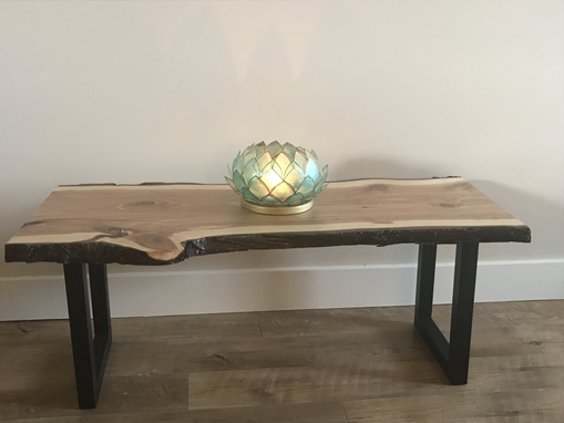 Custom Made Live Edge Table With Custom Steel Legs