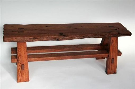 Custom Made Rustic Reclaimed Barnwood Bench