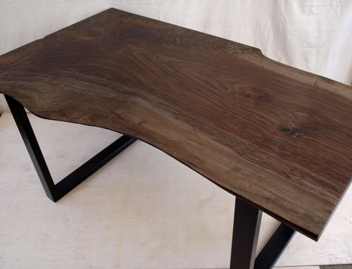 Custom Made Live Edge Walnut Desk