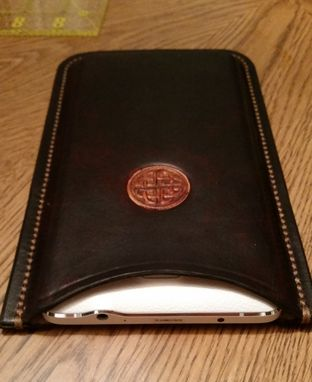 Custom Made Hand Crafted Leather Samsung Note 4 Celtic Phone Case