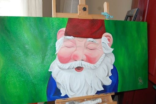 Custom Made Gnome Oil Painting