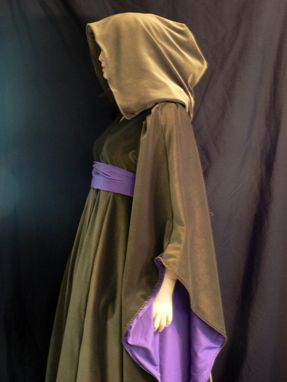 Custom Made Star Wars Padme Green Cut Velvet Dress