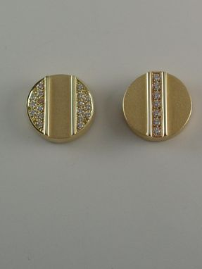 Custom Made Earrings - 18kt Yellow Gold, Diamonds