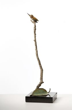 Custom Made Hummingbird Bronze Sculpture