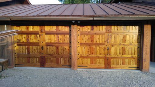 Custom Made Solid Western Red Cedar Garage Doors