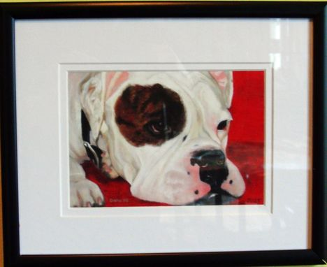 Custom Made Framed Fine Art Dog Print 8 X 10 - American Bulldog/English Bulldog Art