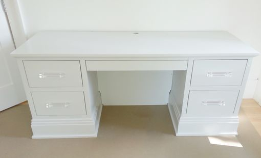 Buy a Custom Made Modern White Lacquer Desk, made to order ...