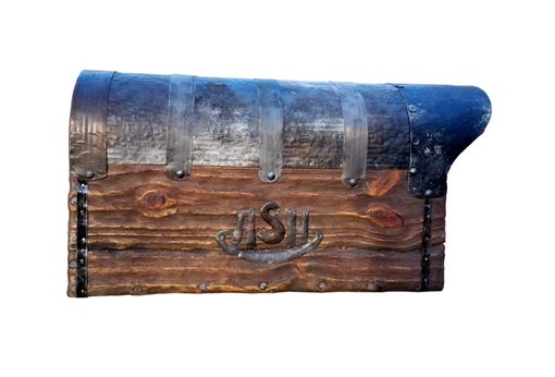 Custom Made Rustic Mailbox With The Figured Flag