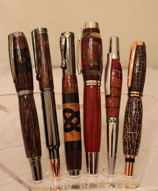 Custom Made Segmented And Inlayed Pens