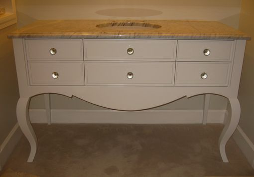 Custom Made Cabriole Leg Vanity