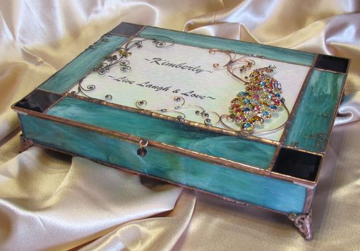 Custom Made Peacock Jewelry Box