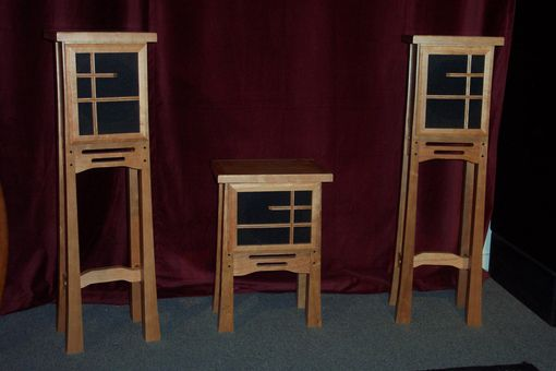 Custom Made Arts & Crafts Center And Rear Channel Speakers