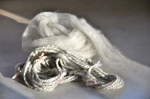 Custom Made Roving Light Grey Alpaca Merino Silk Roving Spinning Felting Soft Sensuous Spinning Wpr