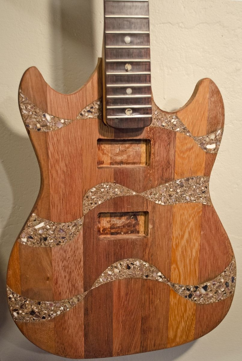 Hand Made The Shell Inlay Guitar Body By Metzler Guitars