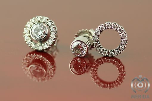 Custom Made Custom 3 In 1 Diamond Earrings