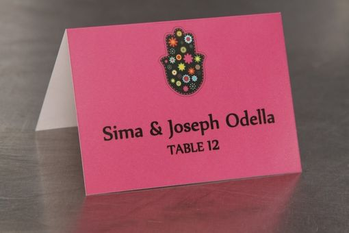 Custom Made Place Cards - Hamsa - Escort Cards Custom Designed