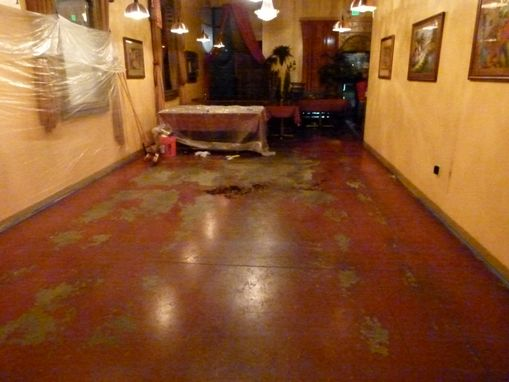 Custom Made Aroma Indian Cuisine Floor Refinish