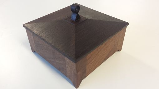 Custom Made Walnut And Wenge Jewelry Box