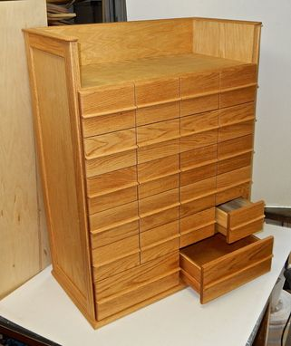 Custom Made Stamp Collectors Cabinet