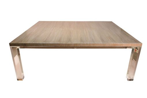 Custom Made Cerrused Oak And Acrylic Dining Table