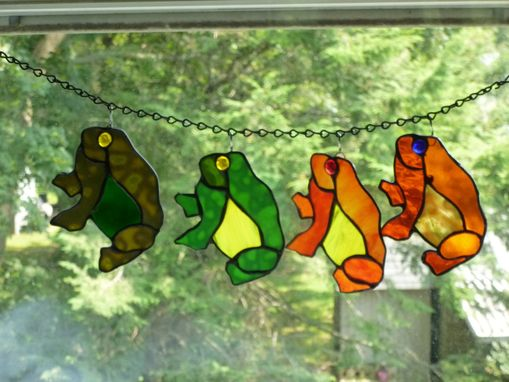 Custom Made Custom Stained Glass Frog