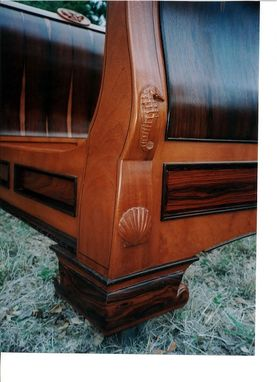 Custom Made Rosewood & Mahogany Sleigh Bed