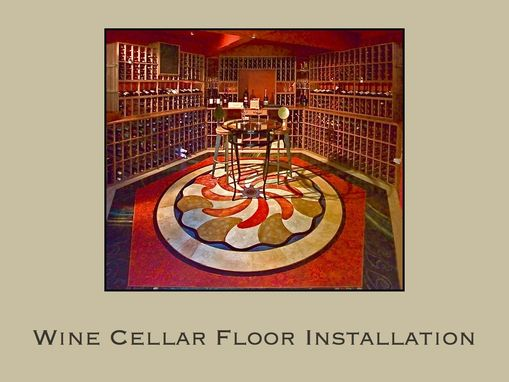 Custom Made Wine Cellar Floor Installation