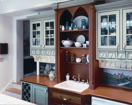 Custom Painted Kitchen Cabinets With Mahogany Countertop By Superior Enchanting Kitchen Remodeling Philadelphia Painting