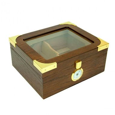 Custom Made The Elegant Glass Top Cigar Humidor