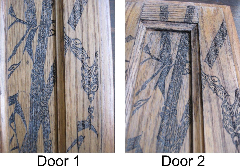 Custom Cabinet Door 18 5 Quot X 7 Quot Laser Engraved Bamboo