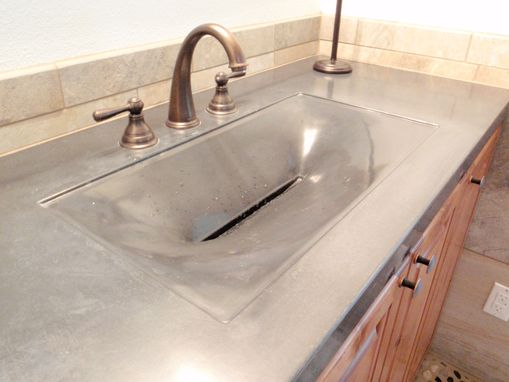 Custom Made The Alki From The Evo Line Of Fabric Formed Concrete Sinks.