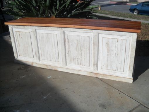 Custom Made Store Counter From Reclaimed Wood