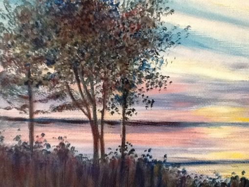 Custom Made Sunrise At Bay View, Oil Painting