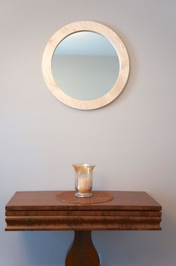 "Custom Made Solid Maple Wall Mirror-24"" Round"
