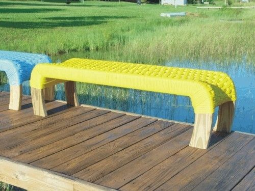 Custom Made Outdoor/Indoor Rope Bench