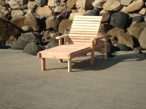 Custom Made Best Redwood Single Beach Chaise Lounge