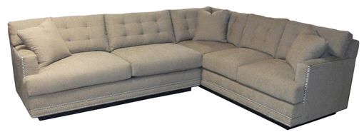Custom Made Button Tufted Floating Base Sectional