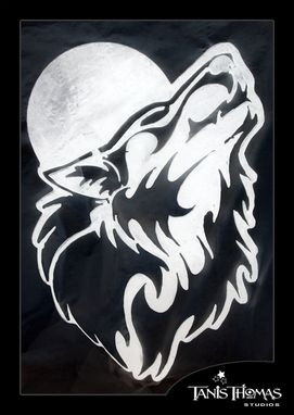 Custom Made Aluminum Howling Wolf Metal Wall Art