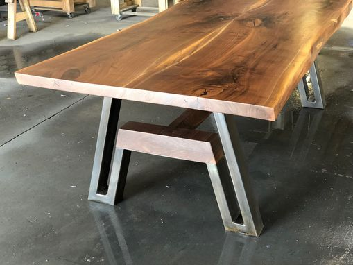 Custom Made Live-Edge Walnut Dining Table