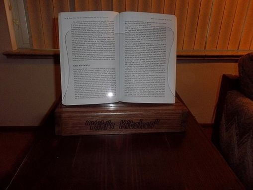 Custom Made Solid Oak Cookbook Holder