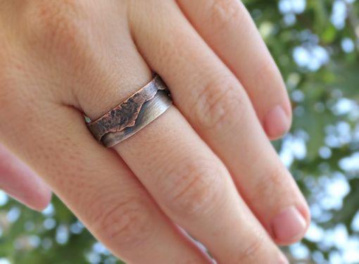 Buy a Handmade Rustic Mountain Range Ring Mixed Metal, Custom ...