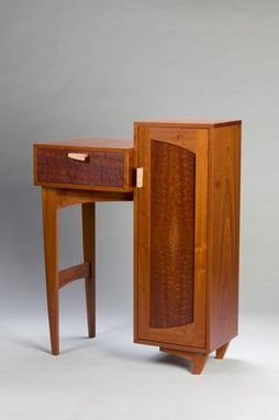 Custom Made Sapele Cabinet With Drawer