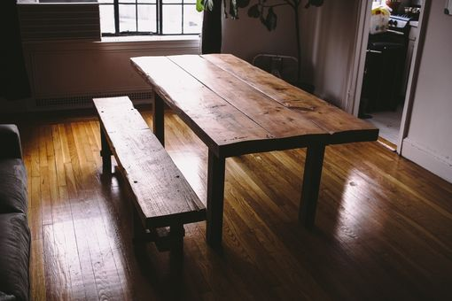 Custom Made Reclaimed Farmhouse Table + Bench