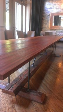 Custom Made Industrial Farmhouse Harvest Dining Table