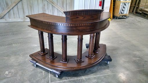 Custom Made Pulpit In Solid Red Oak