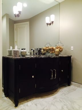 Custom Made Bowfront Vanity